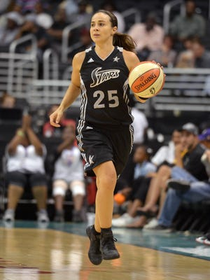 Former CSU and San Antonio Stars guard Becky Hammon (20) was named one of the WNBA's top 20 players of all-time on Tuesday.