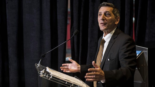 White House Director of National Drug Control Policy Michael Botticelli speaks at an event unveiling a multi-state program to combat opioid abuse in the U.S. at a Walgreens store on February 9, 2016, in Washington, DC. More than 500 Walgreens drugstores will have safe medication disposal kiosks installed, and the lifesaving opioid antidote naloxone will be made available without prescription in 35 states throughout the U.S.