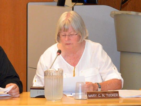 Mary Tucker has been elected vice president of the Elmira school board through June 30, 2016.