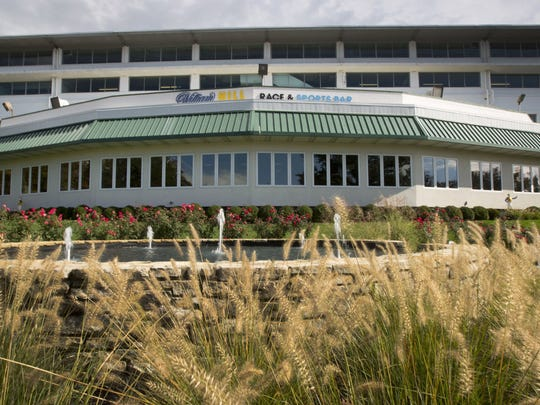 The William Hill Sports Bar at Monmouth Park, a $1 million facility for the express purpose of serving as the initial home for a sports book should sports wagering come to New Jersey.
