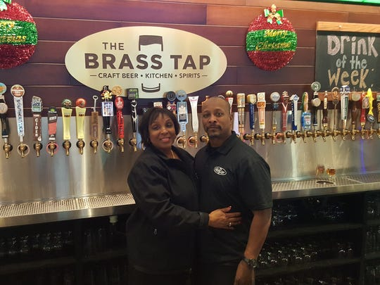 Sharon and Mark Ripley, owners of The Brass Tap, a