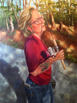 """""""Bliss"""" painted by Caryn Stromberg."""
