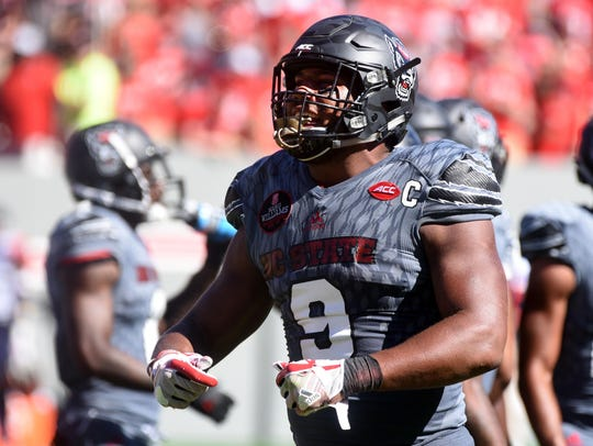 Bradley Chubb won this year's Bronko Nagurski Award,