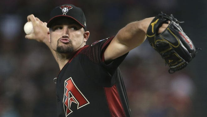 Zack Godley, shown here in 2018 with the Diamondbacks, agreed to a deal with the Red Sox late Friday.