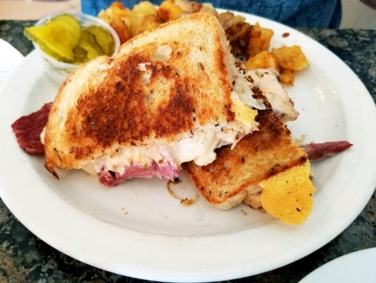 Zachary's Cafe's Reubenwas corned beef on grilled rye