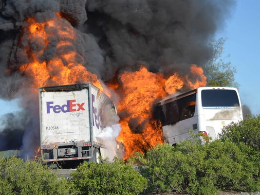 AP CALIFORNIA BUS CRASH A FILE USA CA