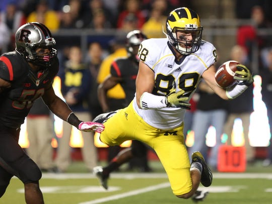 Michigan tight end Jake Butt's recovery from a torn