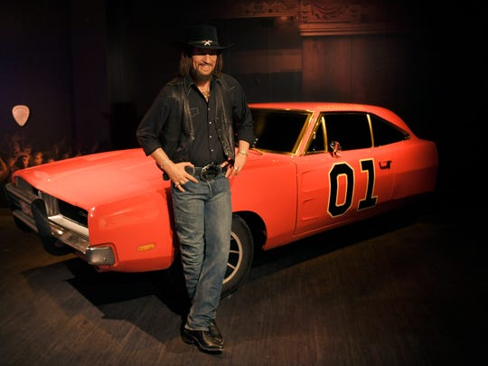 Madame Tussauds' Waylon Jennings wax figure is part of the collection at the Nashville attraction.