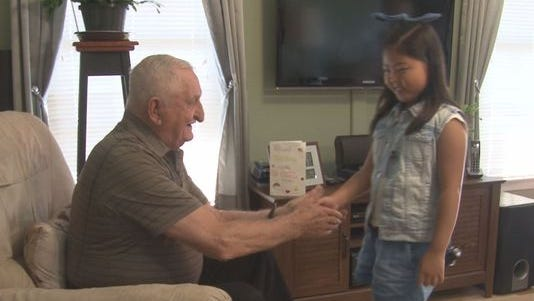 A WWII veteran said he wanted to tell a young girl, who wrote him a touching letter, how much he appreciated her words.