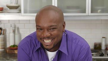 Aaron McCargo Jr. is happiest in the kitchen, preparing the meals he loves.