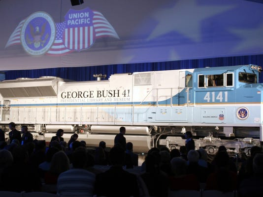 George HW Bush Funeral Train