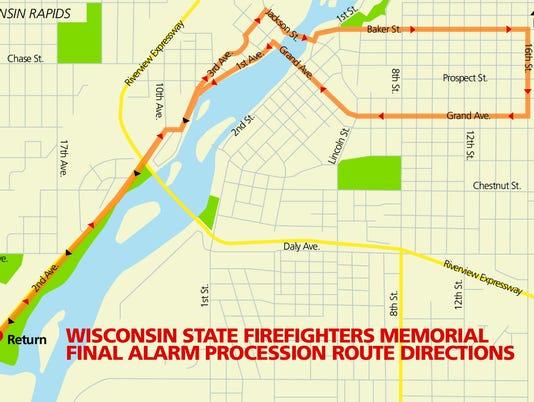 Procession map