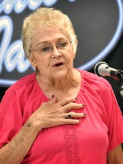 "Ruby McDonald sang an inspiring version of ""God Bless America"" as she competed in the 8th Annual Senior Idol at The Kitchen Friday morning."