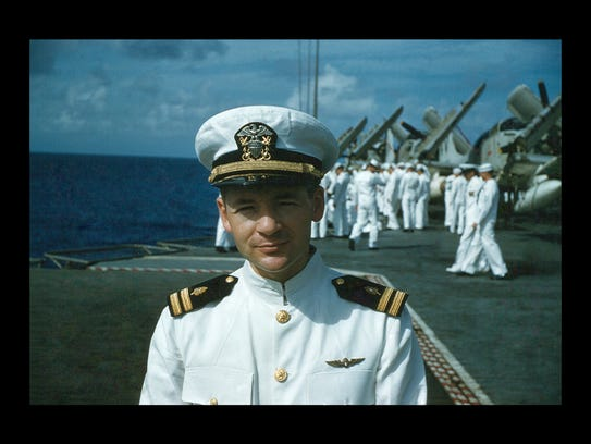 Dr. Norman Halfpenny as he served in the U.S. Navy