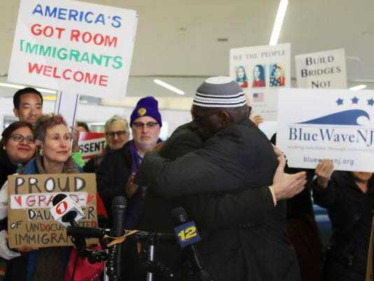 A rally to oppose the Trump admistration's ban on travel from six Muslim countries was held today at Newark Airport. The event was organized by the NJ Alliance for Immigrant Justice.