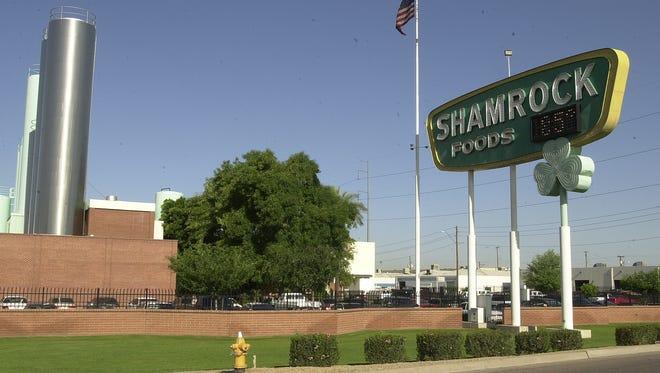 The Shamrock Food sign at its plant at 2228 N. Black Canyon Freeway.