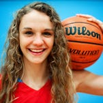 South Salem senior guard Katie McWilliams, the All-USA Mid-Valley American Family Insurance girls basketball player of the year, inside the Saxons gymnasium, on Wednesday, March 25, 2015, in Salem.