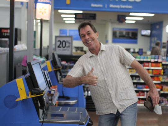 Randy Hutchins really likes the new self-service registers