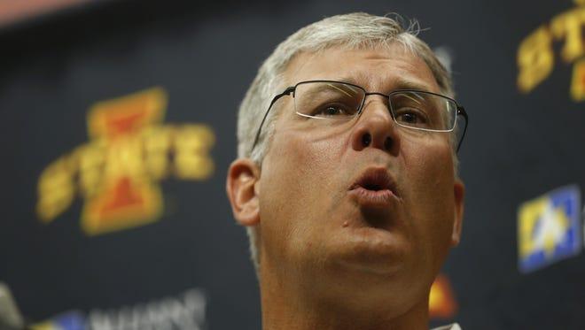 Iowa State football coach Paul Rhoads credited defensive ends coach Stan Eggen in landing Jhaustin Thomas.