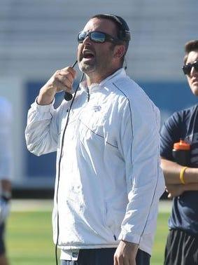 Nevada offensive coordinator turned Hawaii head coach Nick Rolovich