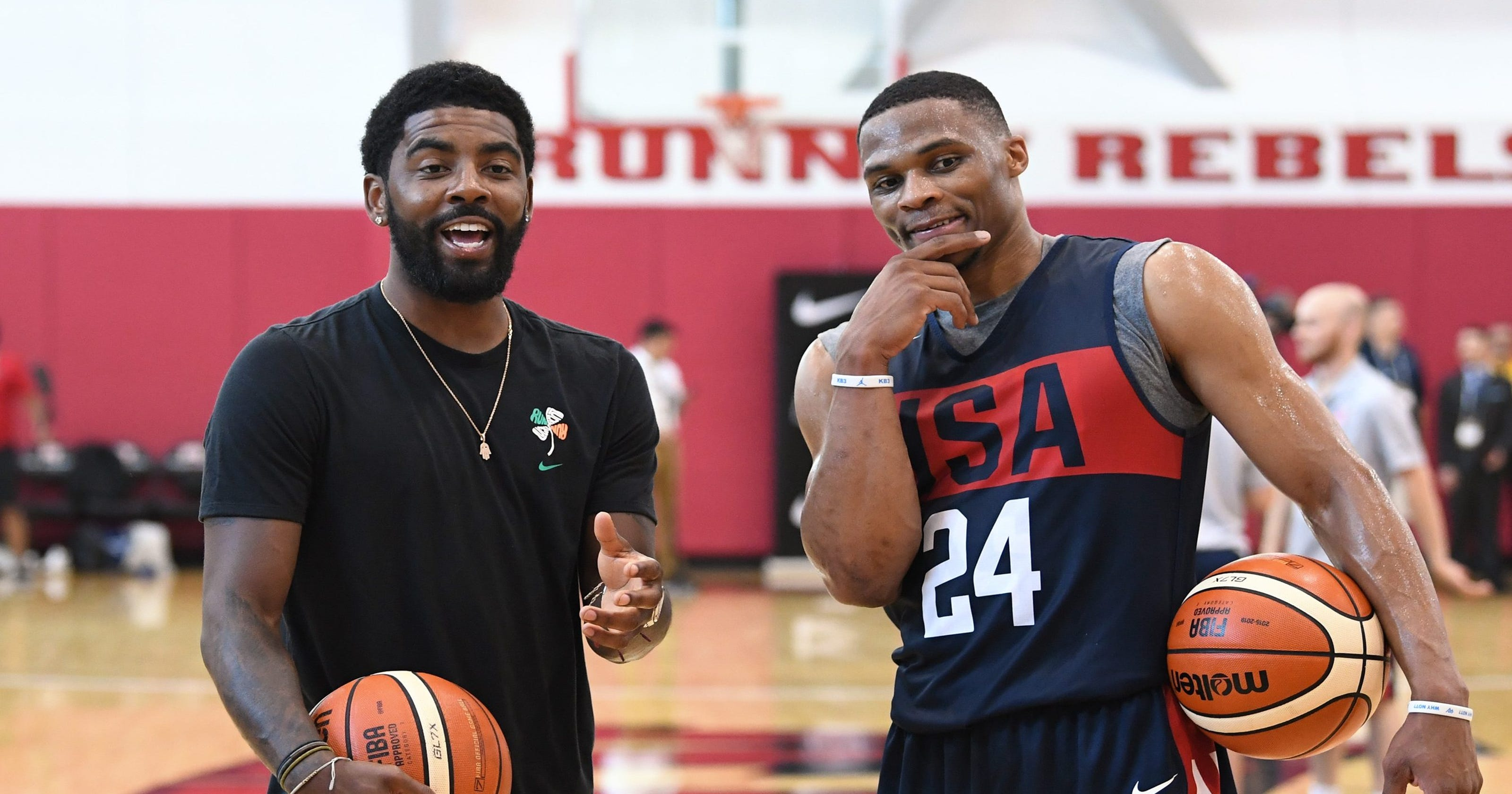 3a325ceb5c93 Kyrie Irving enjoyed watching USA Basketball players go 1-on-1