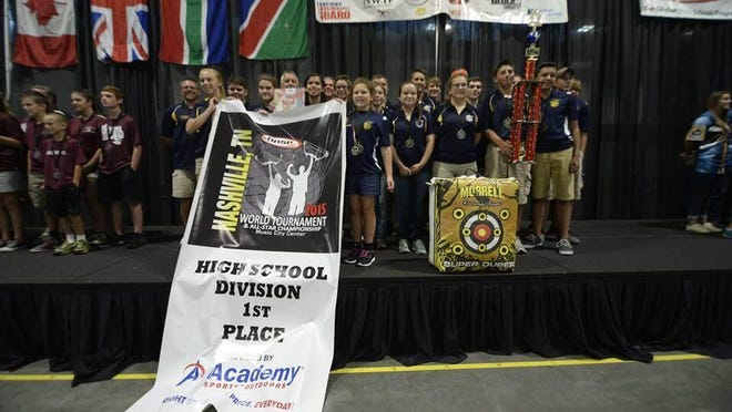 Hartland High School's archery team won the 2015 National Archery in Schools Program World Championship in July. More than 78 teams from around the globe participated.