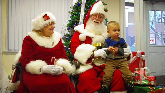 Santa and Mrs. Claus will be visiting with children again this year at Webster's White Christmas in the Village. (M. Rosenberry)