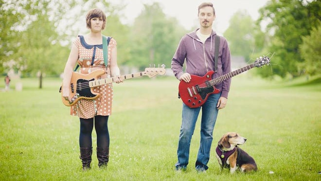 Lafayette indie rock band Outdoor Velour performs at the Spot Tavern Saturday.