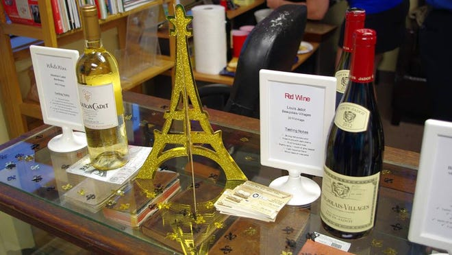 Yesterday's Muse Books featured French wines at the village's first Wine Walk in October