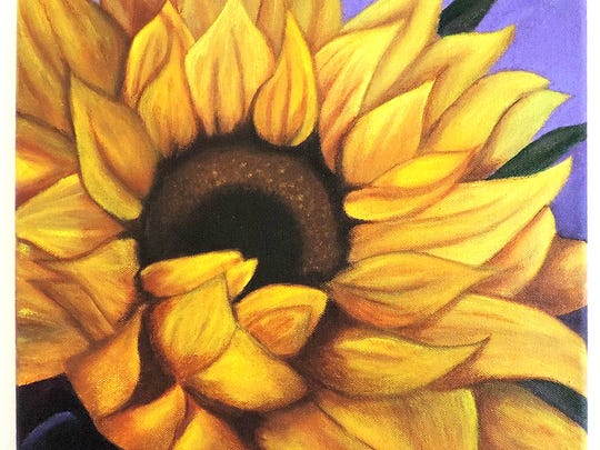"""""""Sunflower"""" by Kate Eichelberger is part of the SHAPE Gallery show."""