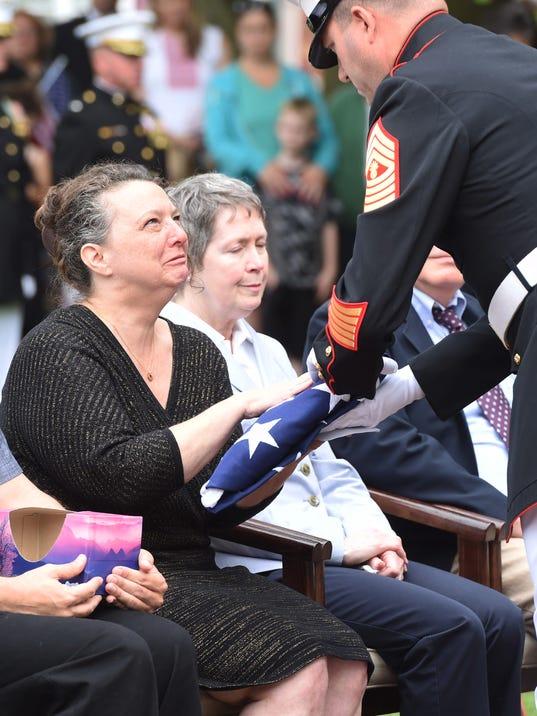 Fishkill Marine Honor Guard ceremony
