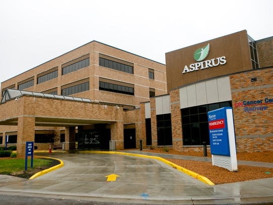 Aspirus Riverview Hospital in Wisconsin Rapids, Wednesday, Oct. 28, 2015.