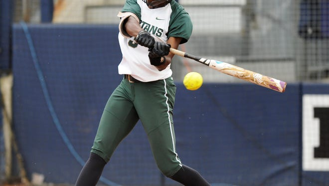 Michigan State left fielder Ebonee Echols had two RBIs in a 4-3 victory Thursday over Illinois State in the National Invitational Softball Championship.
