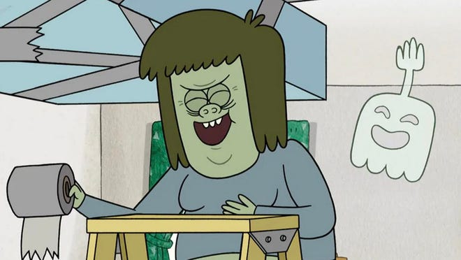 """Muscle Man, a character from the Cartoon Network animated series """"Regular Show."""""""
