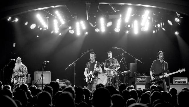 Eagles of Death Metal perform at the Teragram Ballroom on October 19, 2015 in Los Angeles, California.On Friday, Nov. 13, 2015, Eagles of Death Metal was performing in Paris when hostages were taken and killed during their concert.