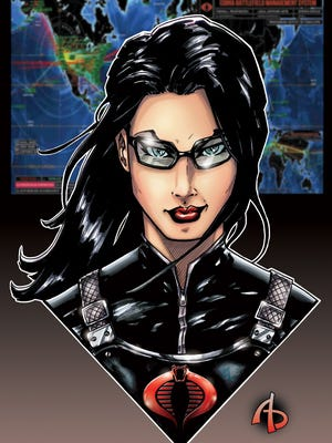 Local artist Adam Buttrey's fan art of G.I. Joe's The Baroness is exclusively available on Free Comic Book Day, May 5 at StarBase 1552 Comics in Franklin.