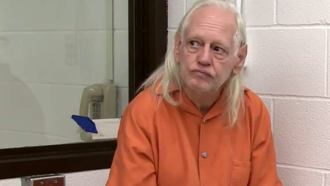 Video released by the Wayne County Sheriff's Department in Ohio shows the arraignment Thursday of Robert Honsch, also known as Robert Tyree, in connection with the slayings of his first wife, Marcia, and their daughter, Elizabeth, of Brewster, N.Y.