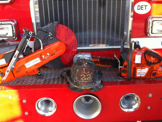 Ladder Company 22's chainsaw and K14 saw, pictured here, were stolen early Sunday morning while the firefighters battled a blaze.