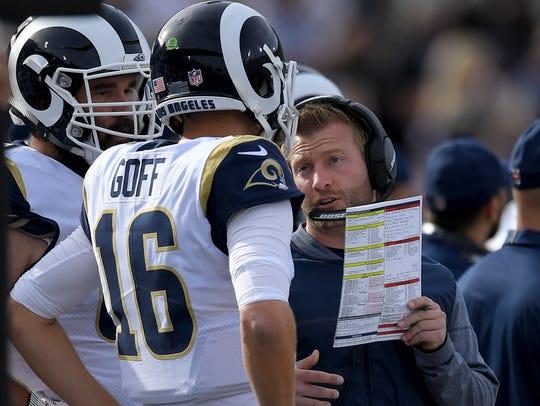 Rams coach Sean McVay may have saved quarterback Jared