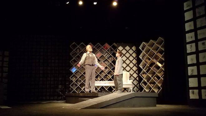 The Giver (David Jetmore) shares his knowledge with Jonas (Luke Schweitzer).