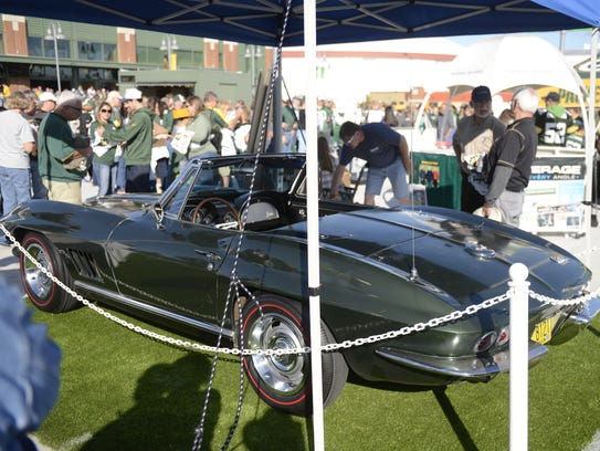 The 1967 Corvette awarded to Bart Starr as Super Bowl I MVP will be auctioned in Indianapolis on May 19, 2018. The car was on display at Lambeau Field on Aug. 31, 2017.