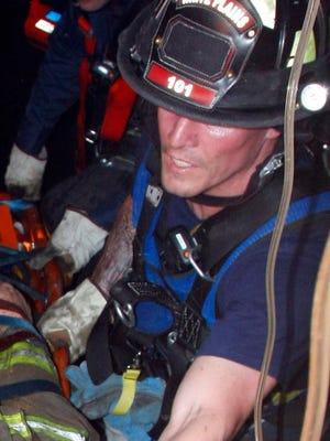 White Plains firefighter Erik Refvik photographed in 2010.