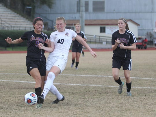 Leon junior Kate Carter scored three goals in the Lions' 8-1 win over Columbia on Wednesday in a district semifinal.