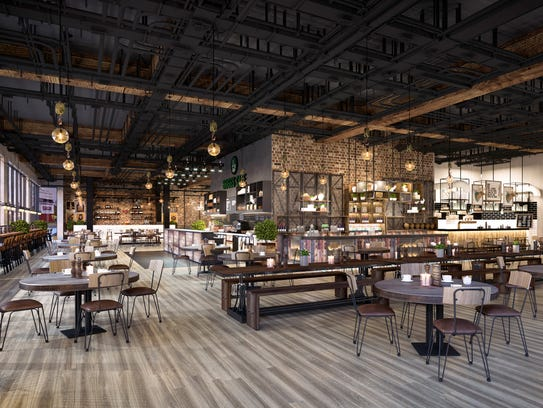 """Rendering of the the market at """"The Corner,"""" a $30-million"""