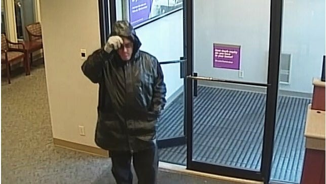 this man is accused of robbing a Fifth Third Bank in Clermont County Monday morning.