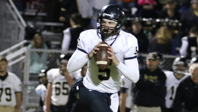 Wayne County quarterback Preston Rice (5) has committed to Murray State.