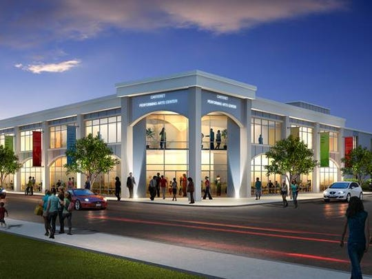 A rendering of the Carteret Performing Arts Center.