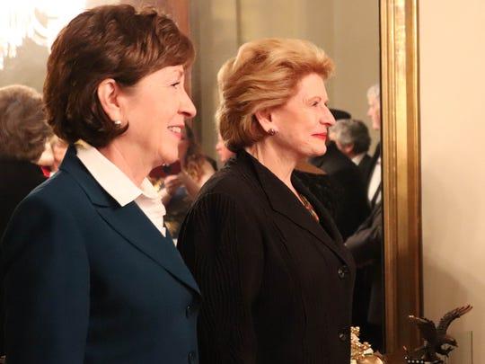 US. Sens. Susan Collins, R-Maine, and Debbie Stabenow,