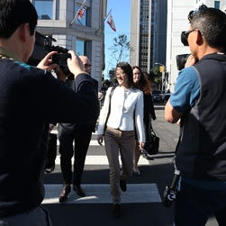 SAN FRANCISCO, CA - MARCH 27:  Ellen Pao (C) leaves the San Francisco Superior Court Civic Center Courthouse on March 27, 2015 in San Francisco, California. A jury found no gender bias against Reddit interim CEO Ellen Pao and former employee at Silicon Valley venture capital firm Kleiner Perkins Caulfield and Byers. Pao was suing Kleiner Perkins Caulfield and Byers for $16 million alleging she was sexually harassed by male officials.  (Photo by Justin Sullivan/Getty Images) ORG XMIT: 545331857 ORIG FILE ID: 467840122