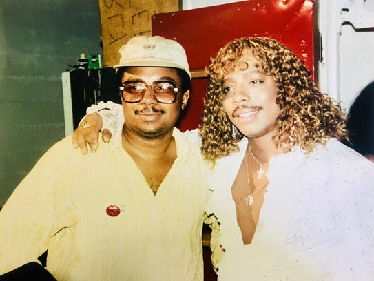 LeRoi Johnson with his brother James Ambrose Johnson Jr., better known as Rick James, are shown circa 1985.